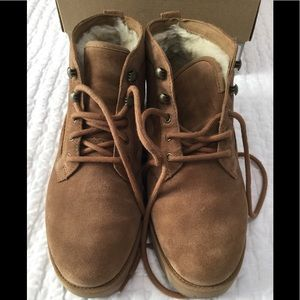 UGG Shoes - UGG Bethany chestnut shearling lace up boots